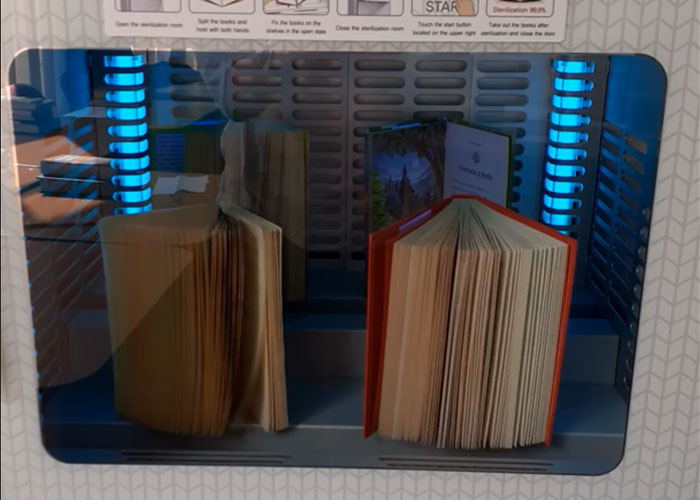 LIVA Book Sterilizer 401 at Cluj County Library